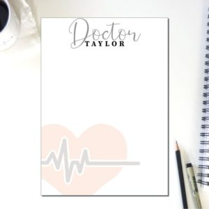 Personalized Doctor Note Pad   To Do List   Notepad Nurse   Desk Organization   Health Care