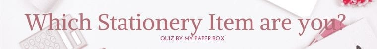 Which Stationery Item are you Quiz Banner